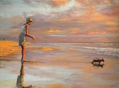 Painting - Woman And Her Dog by Paul Emig