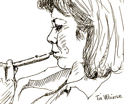 Tin Whistle Painting - Woman And Tin Whistle by Dan Earle