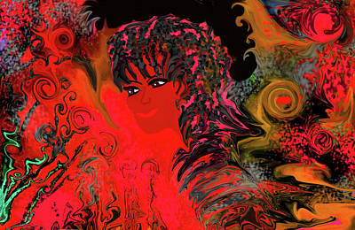 Digital Art - woman art Beautiful Brazilian Woman by Sherri's Of Palm Springs