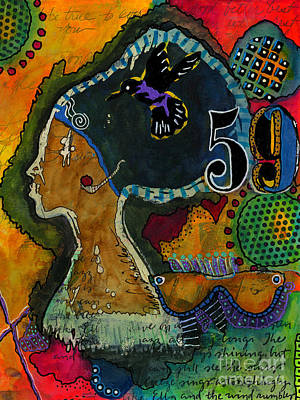 Mixed Media - Sistah by Angela L Walker