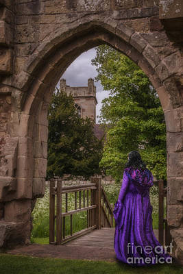 Old Church Photograph - Woman At Old Castle by Amanda Elwell