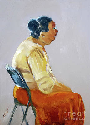 Painting - Woman At Rest by Shelley Koopmann