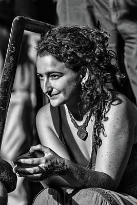 Photograph - Woman At The Rails by John Haldane