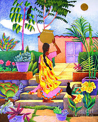 Painting - Woman At The Well - Mmwel by Br Mickey McGrath OSFS