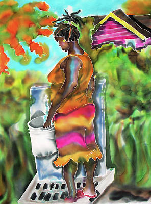 Painting - Woman At The Well by Tiff