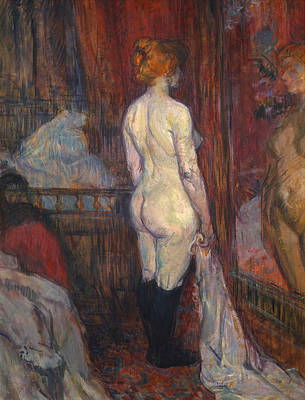 Make-up Painting - Woman Before A Mirror by Henri de Toulouse-Lautrec