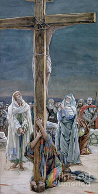 The Wooden Cross Painting - Woman Behold Thy Son by Tissot