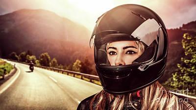 Photograph - Woman Biker by Anna Om