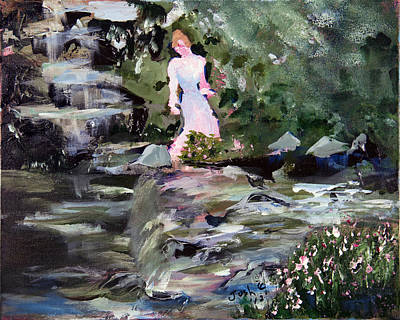 Woman By The Water Art Print