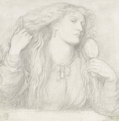 Woman Combing Her Hair, Fanny Cornforth Art Print by Dante Gabriel Rossetti