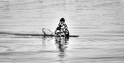 Photograph - Woman Crabbing  by Debra Forand