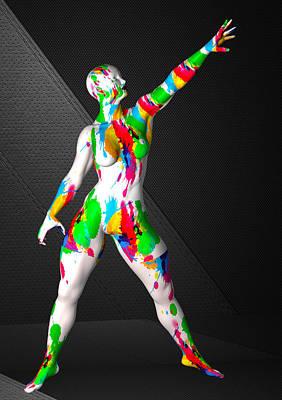 Photograph - Studio Woman Render 09 by Carlos Diaz