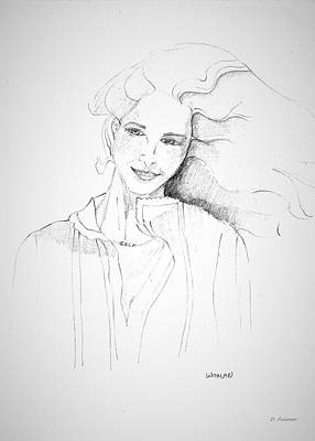 Drawing - Woman by Denise Fulmer