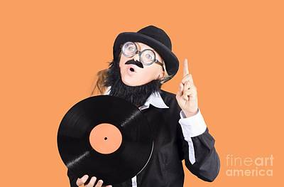 Woman Disc Jockey Art Print by Jorgo Photography - Wall Art Gallery