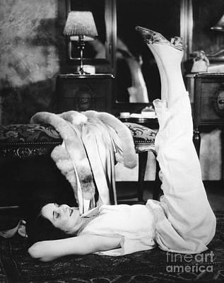 Woman Doing Calisthenics, C.1920-30s Art Print
