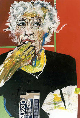 Painting - Woman Eating Starch by Michael  Singletary