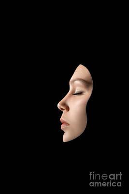 Mardi Gras Digital Art - Woman Face Mask by Aleksey Tugolukov