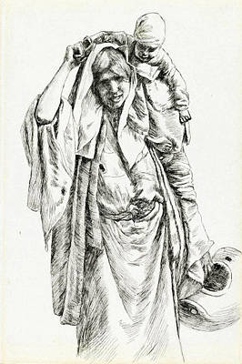 Photograph - Woman From Jerusalem In 1886 by Munir Alawi