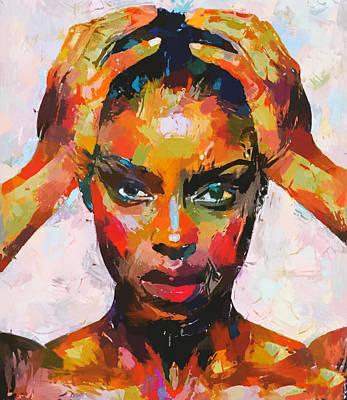 Digital Art - Woman Headache by Yury Malkov