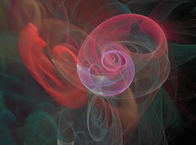 Digital Art - Woman Heart With Moon Shell by Ronda Broatch