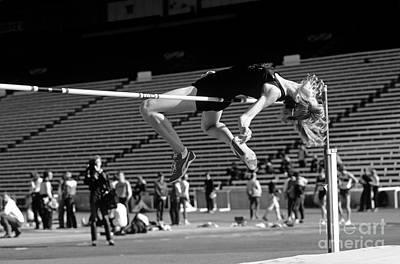 Woman High Jumper  Art Print