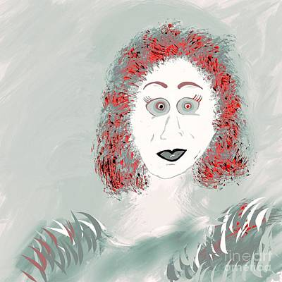 Digital Art - Woman Of  Whimsey Illustration  by Susan Garren