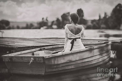 Water Filter Photograph - Woman In A Boat by Gelner Tivadar