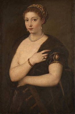 Painting - Woman In A Fur Coat by Titian