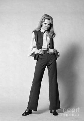 Pant Suit Photograph - Woman In A Pantsuit, C.1960-70s by H. Armstrong Roberts/ClassicStock