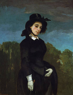 Gustave Courbet Painting - Woman In A Riding Habit, L'amazone by Gustave Courbet