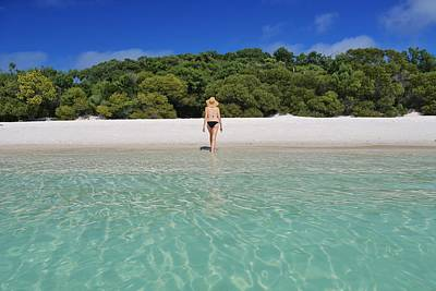 Photograph - Woman In Bikini On Whitehaven Beach by Keiran Lusk