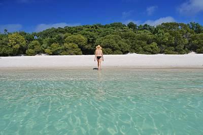 Photograph - Woman In Bikini On Whitehaven Beach by Keiran Lusk