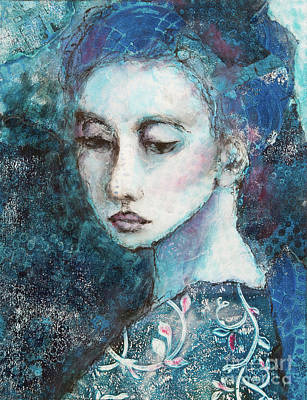 Painting - Woman In Blue by Lynne Furrer