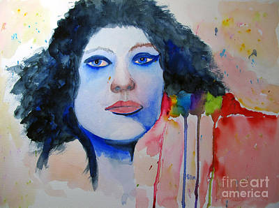 Painting - Woman In Blue by Sandy McIntire