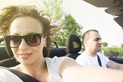 Photograph - Woman In Car Convertible by Newnow Photography By Vera Cepic
