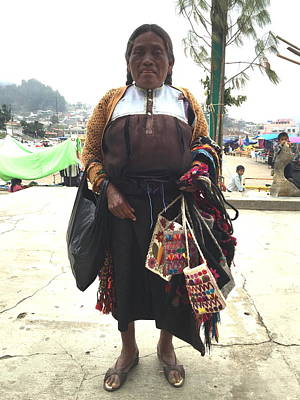 Photograph - Woman In Chiapas. by Shlomo Zangilevitch