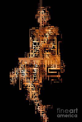 Digital Art - Woman In Code by Rafael Salazar