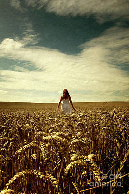 Photograph - Woman In Corn Field by Clayton Bastiani