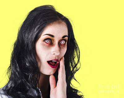 Woman In Horror Makeup Print by Jorgo Photography - Wall Art Gallery