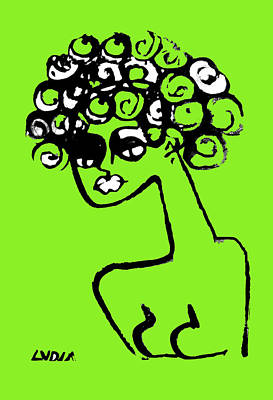 Painting - Woman In Lime by Lydia L Kramer