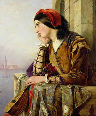 Lute Painting - Woman In Love by Henry Nelson O Neil
