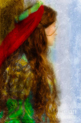 Woman In Medieval Gown Print by Jill Battaglia