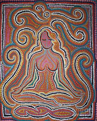 Woman In Meditative Bliss Art Print by Carola Joyce