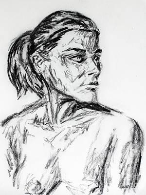 Woman In Pose 4649 Art Print