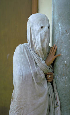 Photograph - Sad Woman In Purdah In Lahore Pakistan by Carl Purcell