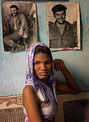 Photograph - Woman In Purple Havana Cuba by Joan Carroll