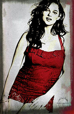 Digital Art - Woman In Red by Absinthe Art By Michelle LeAnn Scott