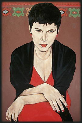 Painting - Woman In Red by Jovana Kolic