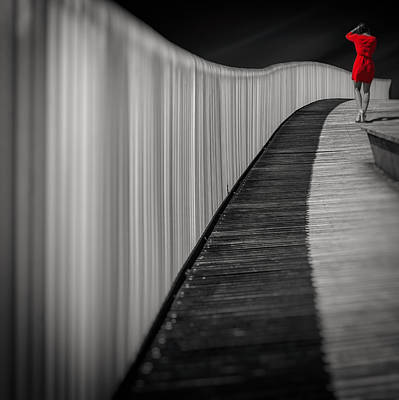 Street Photograph - Woman In Red by Marcoantonio