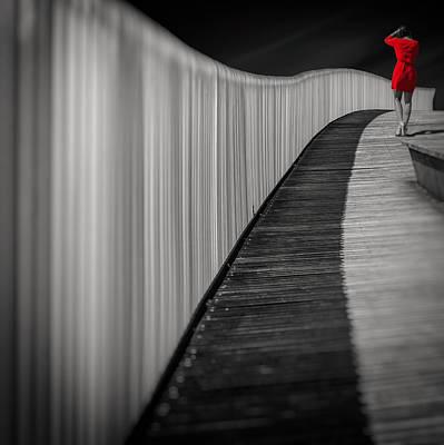 Women Photograph - Woman In Red by Marcoantonio